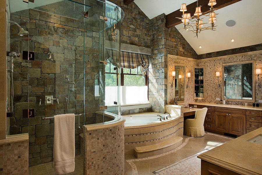 Enjoy Our Selection Of Custom Bathrooms In Custom Big Sky Cabins And