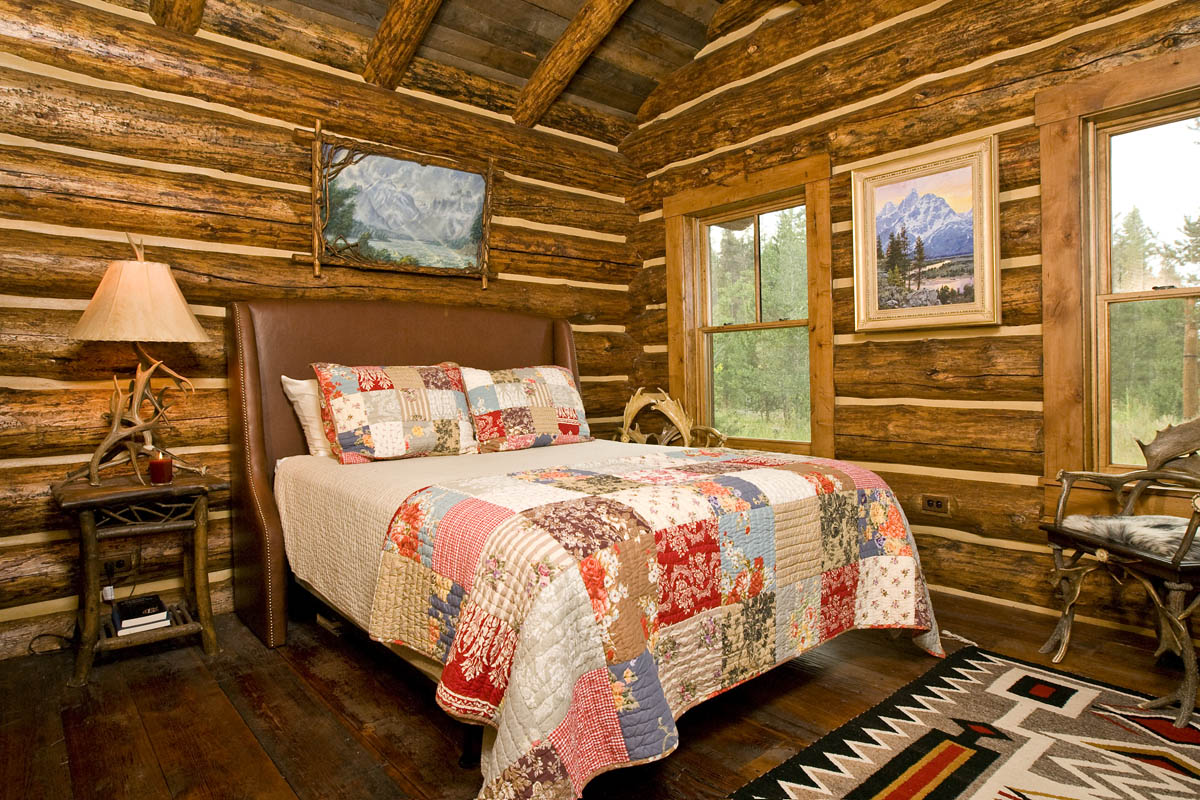 Lost creek cabin teton heritage builders for One room log cabin designs