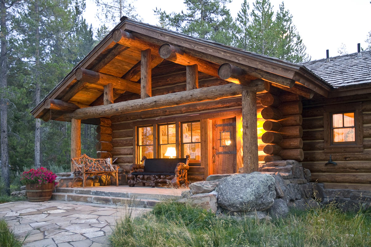 Teton heritage builders big sky jackson hole builders for Large log cabin homes